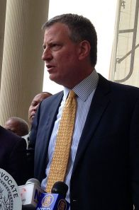 NYC Mayor Bill de Blasio.