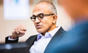 Satya Nadella. Photograph: Microsoft/Reuters